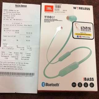 JBL Wireless in-ear headphones T110BT