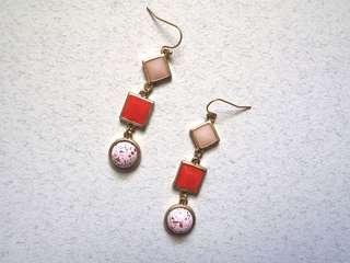 Marbled tiered earrings