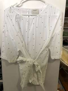 Vero Moda White Blouse with Bow - Preloved, Excellent Condition