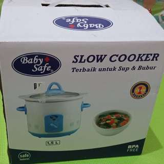 Baby safe slow cooker 1,5 L