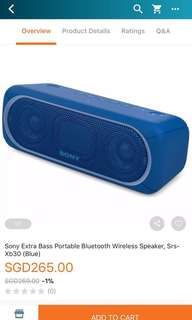 Brand New Sony extra bass SRS-XB30