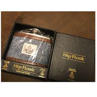 全新 Scotland Harrist Tweed Hip Flask