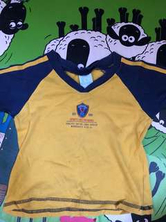 tshirt blue yellow