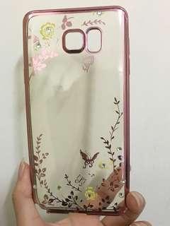 蝴蝶、閃石裝飾優雅軟膠手機套(Samsung Note5)