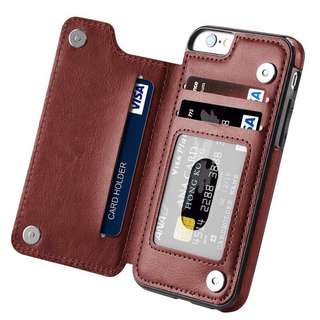 Magnetic Leather Wallet Case iPhone 5/5s/SE/6/6s/7/8