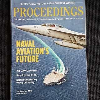 Proceedings (US Naval Institute magazine) Sept 2017