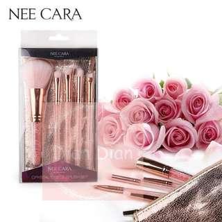 【現貨】泰國Nee cara粉紅水晶彩妝刷具組 甜美刷具 泰國彩妝 歡迎批發