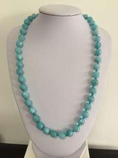 🔥SALE🔥BN Genuine aquamarine Gemstones necklace
