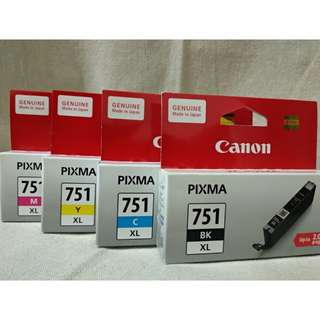 50% Discounted BNIB 1 Set Canon Pixma Black/Cyan/Yellow/Magenta Ink Cartridges
