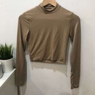 Supre Lon Sleeve Nude Top - Size XS