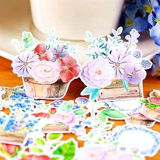 Floral Garden Scrapbook / Planner Stickers #93