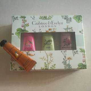 Free Post New Crab & Evelyn Hand Cream Set
