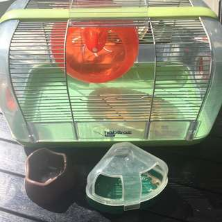 Preloved hamster cage , condition 5/10 ,  little rusty