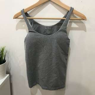 Temt Grey Padded Singlet - Size Small