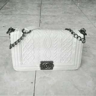 Channel White slingbag