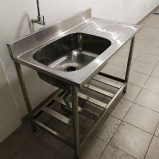 Stainless Steel Stand Alone Basin