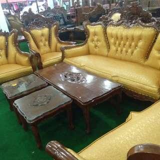 Set sofa kayu jati 3+2+1+1+1mj B+2mj k
