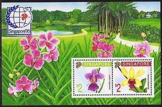 Singapore botanic gardens miniature sheet