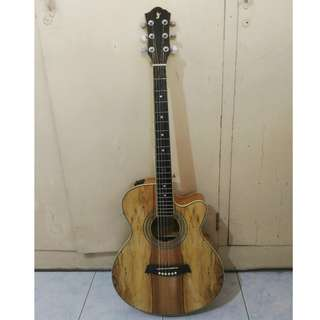Like New: RJ Acoustic Guitar spalted maple w/ Tuner