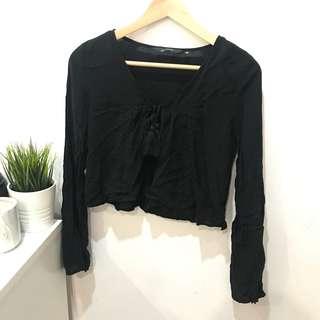 Glassons Black Blouse - Size 8