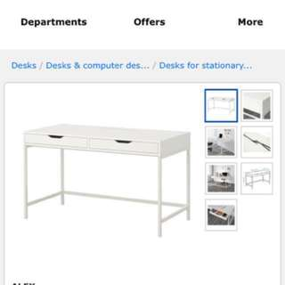 (Well Maintained) To CLEAR ASAP! ALEX Desk, white, 131x60 cm