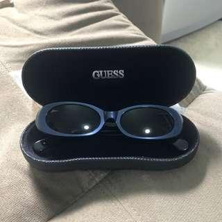 Guess sunglass(metallic blue)