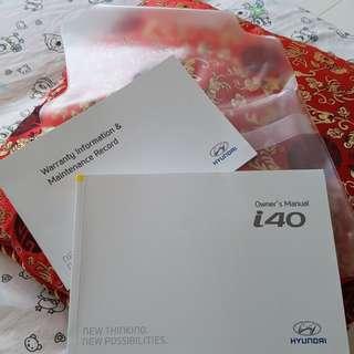 Hyundai I40 owner's manual