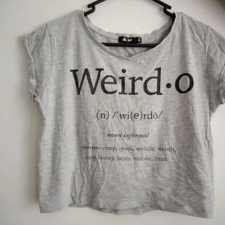 Weirdo crop top grey