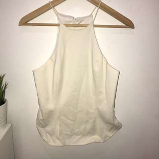 White High Neck Top - Size 10