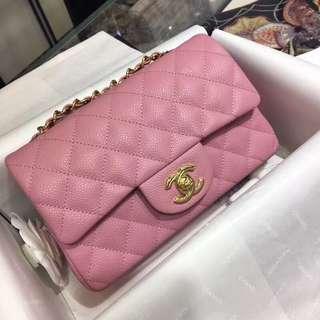 Chanel CF20cm桃粉色