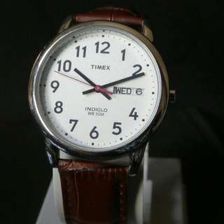 TIMEX Brown Leather Watch UNISEX
