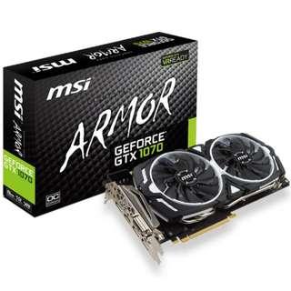 MSI GTX 1070 8GB Armour OC
