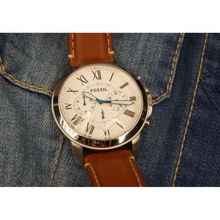 FOSSIL Grant Chronograph Tan Leather
