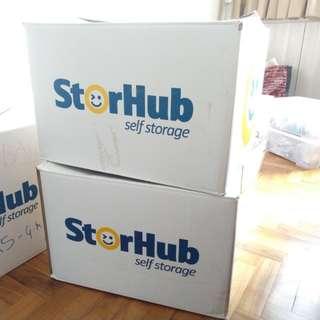 StorHub boxes (3 large 4 small)