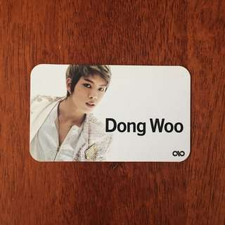INFINITE DONGWOO BTD PHOTOCARD