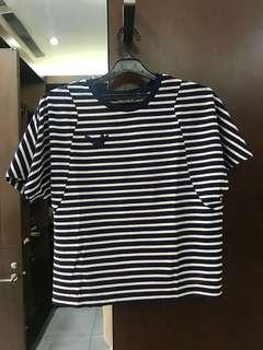 No Brand Stripe Navy/Cream Knit