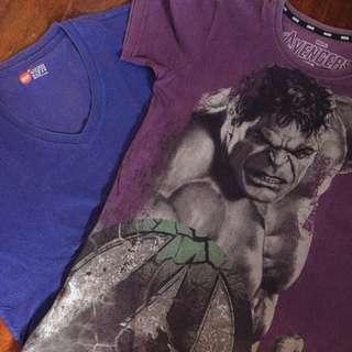 2 FOR 150 Marvel Shirt & Bench V-neck (XS)