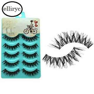 Falsies 5 pairs Handmade, Natural Soft and Thick #8101846