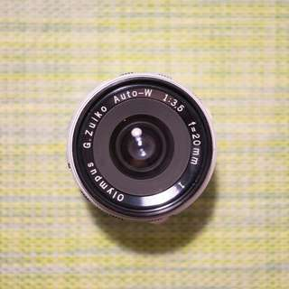 Olympus Pen F FT 20mm F3.5 Wide Angle Lens SLR Film Camera