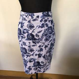 For Me floral printed A-line skirt