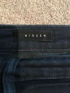 NIQUE - High waisted cropped skinny jeans (29)