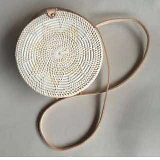 Round Rattan Bag - Available by last week of March