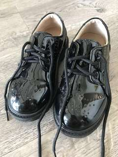 Boys concert shoes, kids black patent shoes, formal shoes