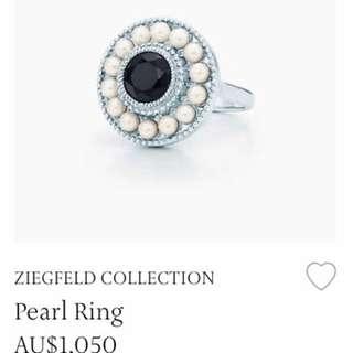 Tiffany&co perl ring