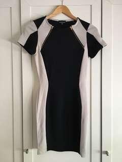 WAREHOUSE Geometric Bodycon Dress