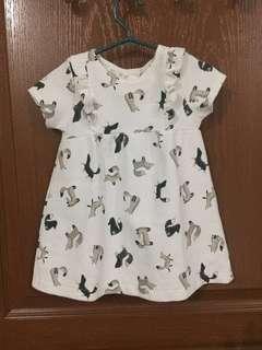 Zara baby jacquard dress 12/18