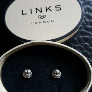 Links of London Baby Knot 925 Silver Stud Earrings
