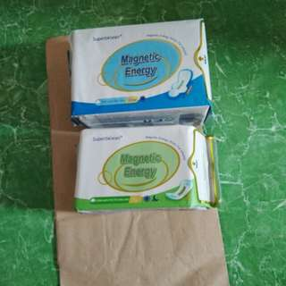 panty liner and napkin with. negative ion