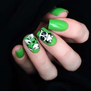 BORN PRETTY Cute Panda Nail Stamping Plate Manicure Rectangle Nail Art Image Template BPX-L015
