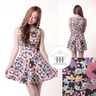 REPRICE Gowigasa Floral Dress Black